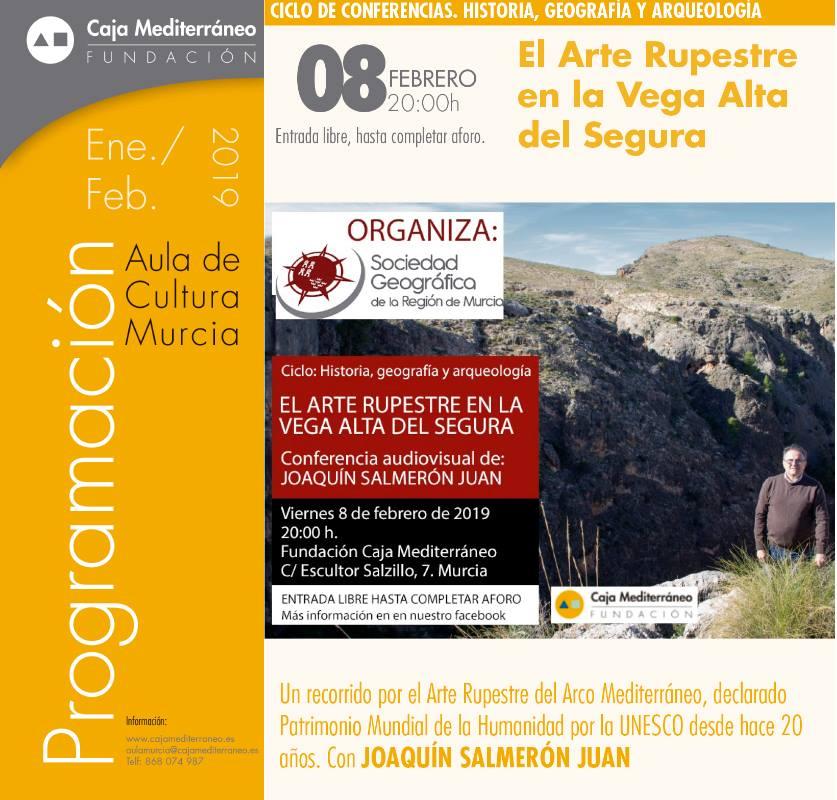 Charla: 'El arte rupestre en la Vega Alta del Segura', con la SGRM