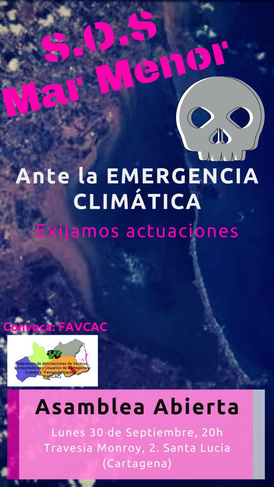 Asamblea abierta sobre el Mar Menor, con FAVCAC