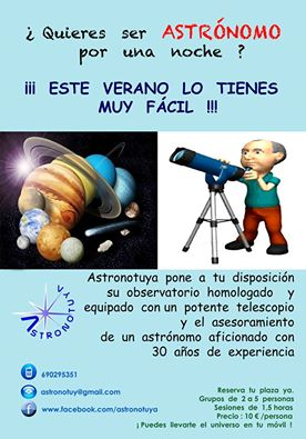 Observación de estrellas desde Calarreona con Astronotuya