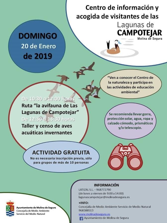 Aves: ruta + taller + censo, con el Ayto. de Molina
