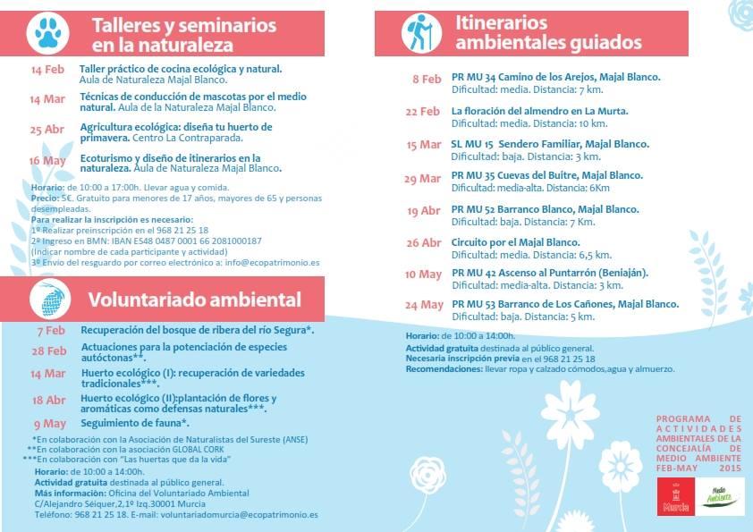 Programa de actividades del Ayto. de Murcia
