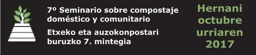 7º Seminario sobre compostaje doméstico y comunitario, cabecera, con Composta en Red