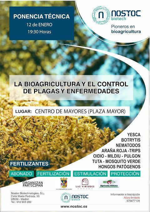 Charla sobre bioagricultura y plagas, con Nostoc Biotech