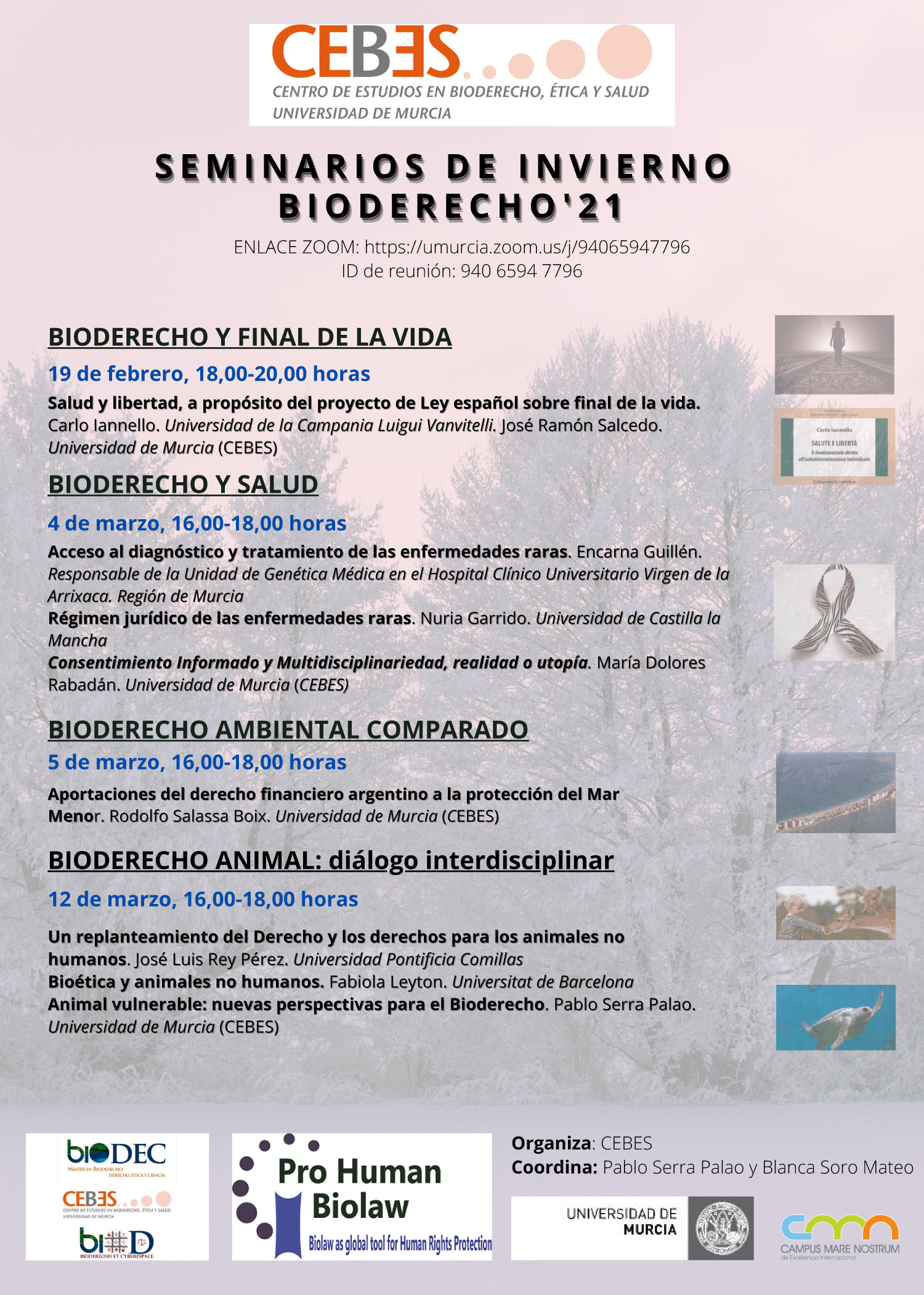 Charla sobre Bioderecho Ambiental, con Cebes (UMU)