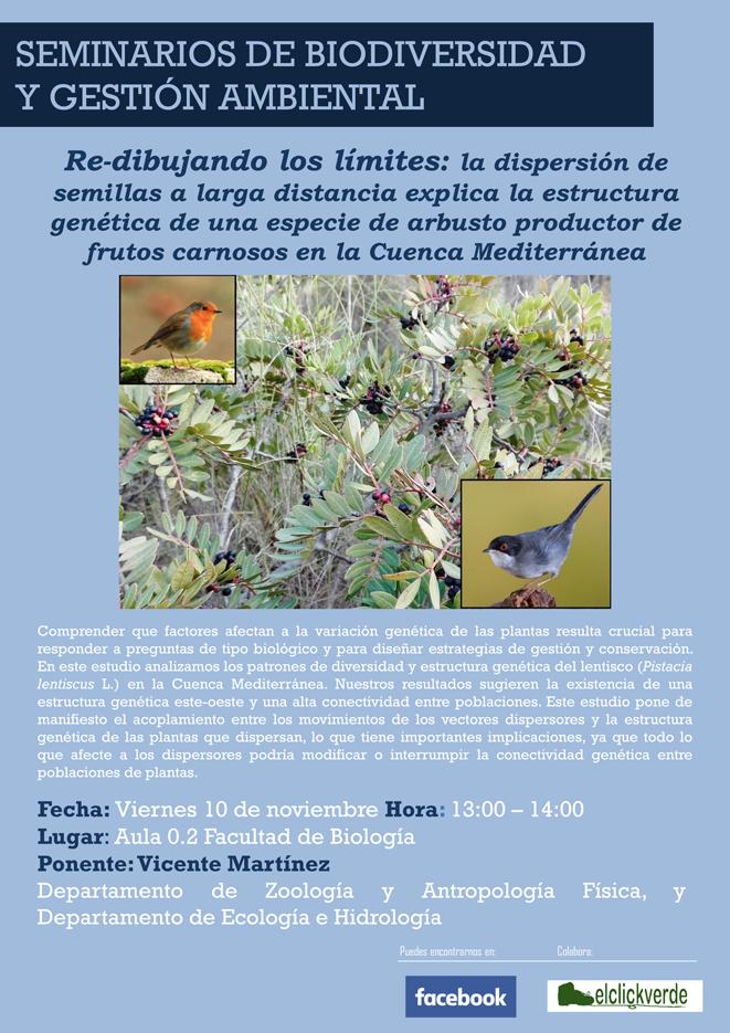 Charla sobre cómo la dispersión de semillas afecta al lentisco, con la UMU