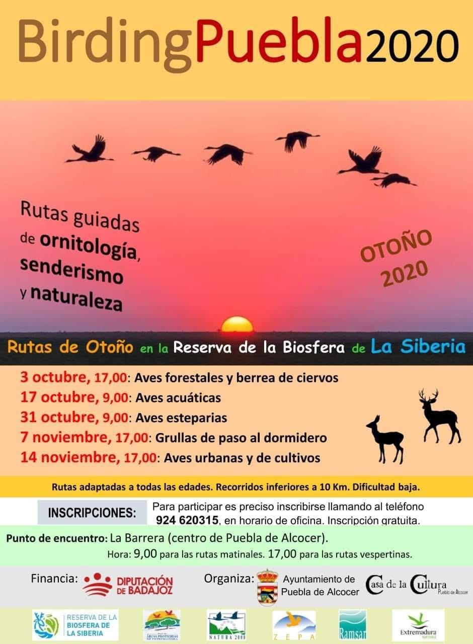 Programa BirdingPuebla2020, con el Ayto. de Puebla de Alcocer