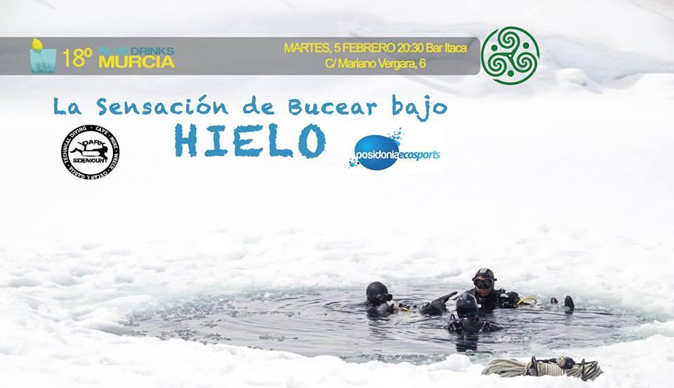 'La sensación de bucear bajo el hielo', con Blue Drinks Murcia