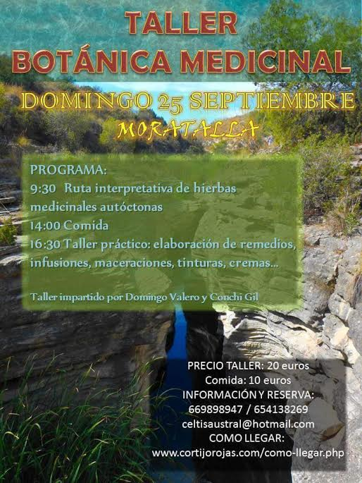Taller de botánica medicinal en Moratalla.