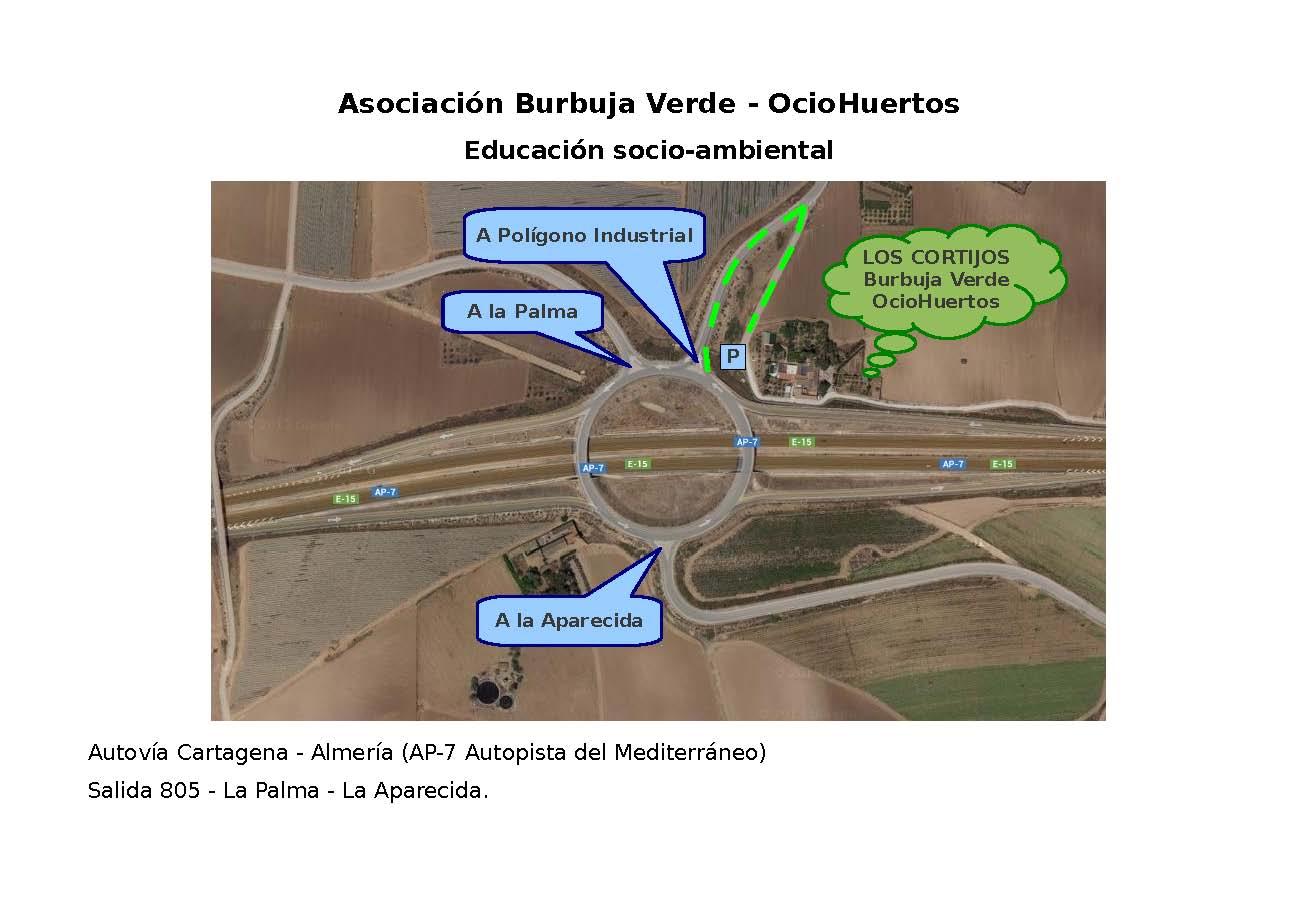 Mapa para llegar a OcioHuertos Cartagena