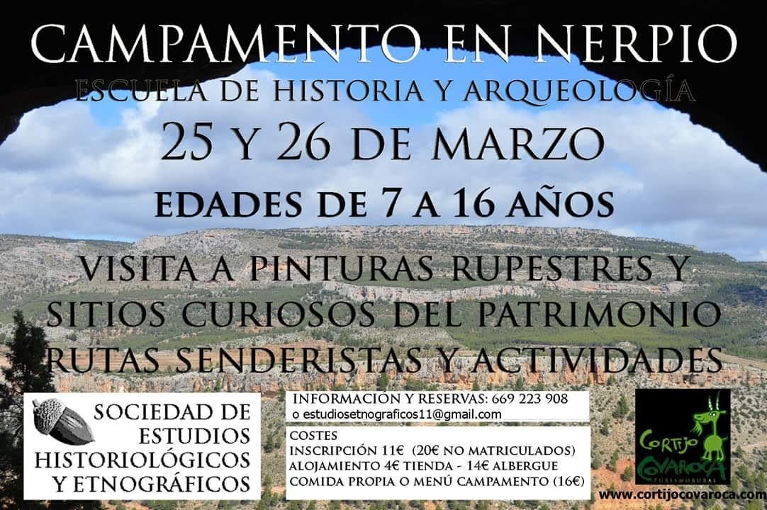 Campamento en Nerpio, con la Sociedad de Estudios Historiológicos y Etnográficos