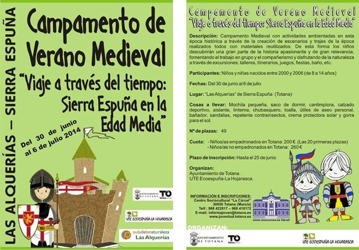 Campamento de Verano Medieval en Sierra Espuña