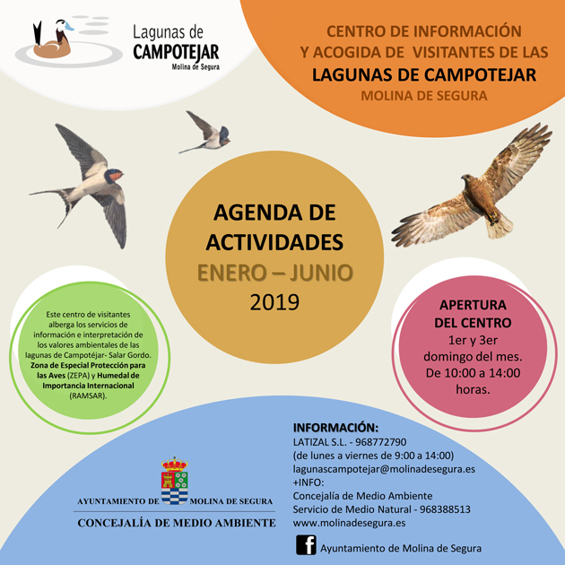 Cartel de las Actividades en las Lagunas de Campotéjar, con el Ayto. de Molina