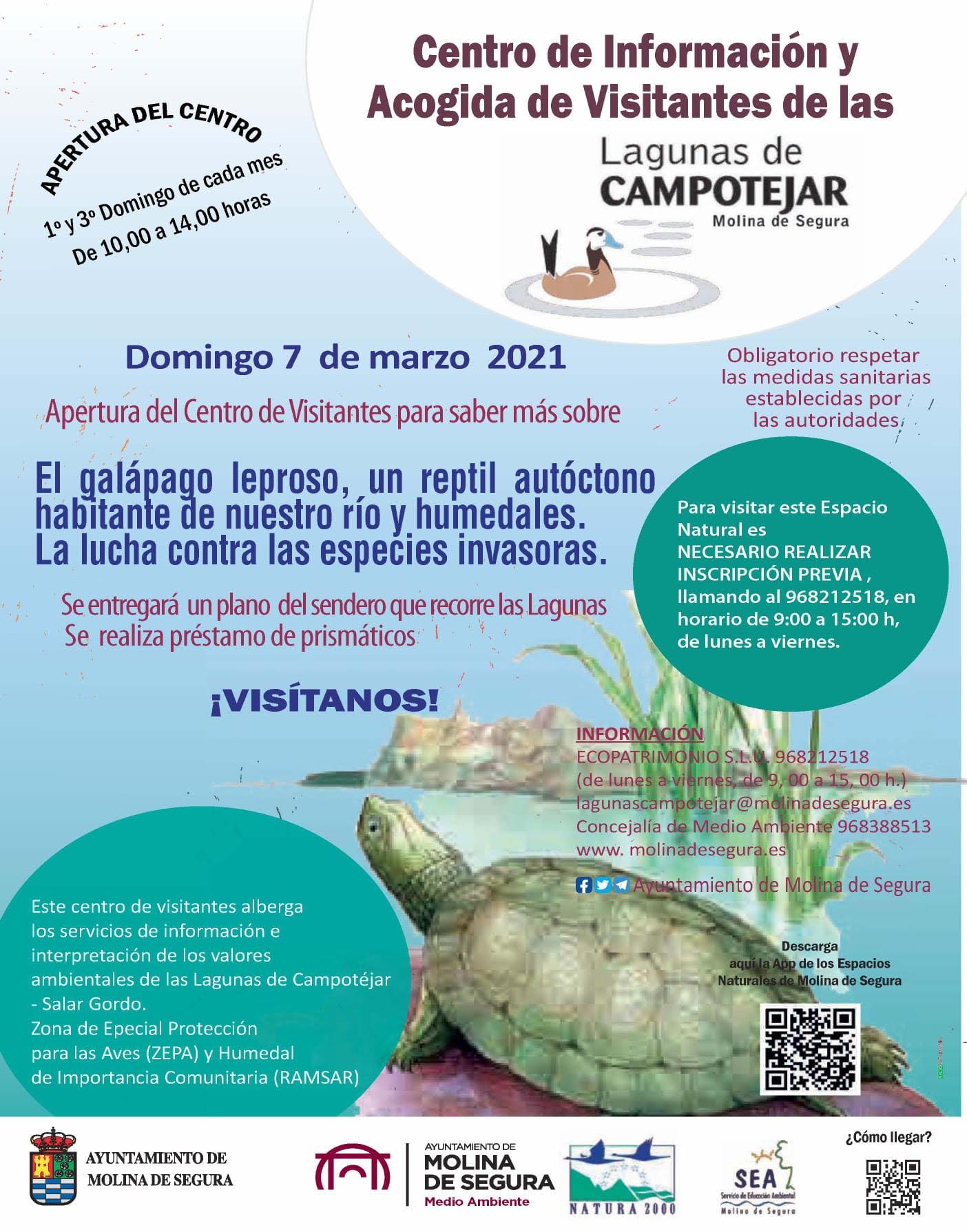 Jornada dedicada al galápago leproso en las Lagunas de Campotéjar, Ayto. de Molina de Segura
