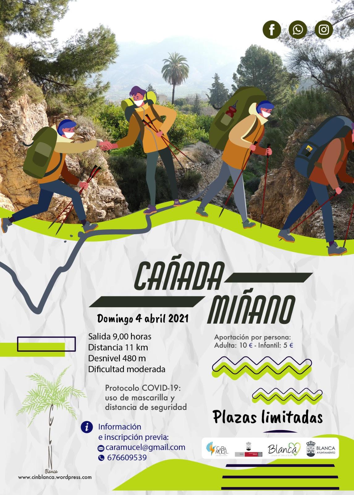 Ruta interpretativa Cañada Miñano, con Caramucel