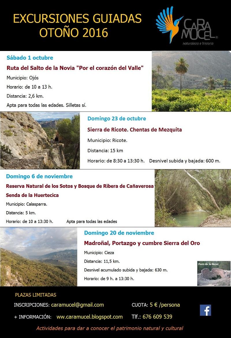 Excursiones de octubre y noviembre, con Caramucel, Naturaleza e Historia.
