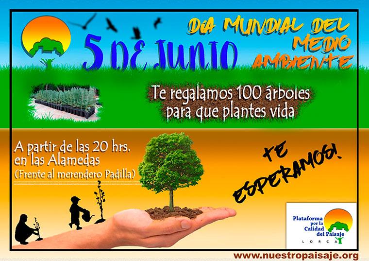 La Plataforma por el Paisaje de Lorca regala árboles