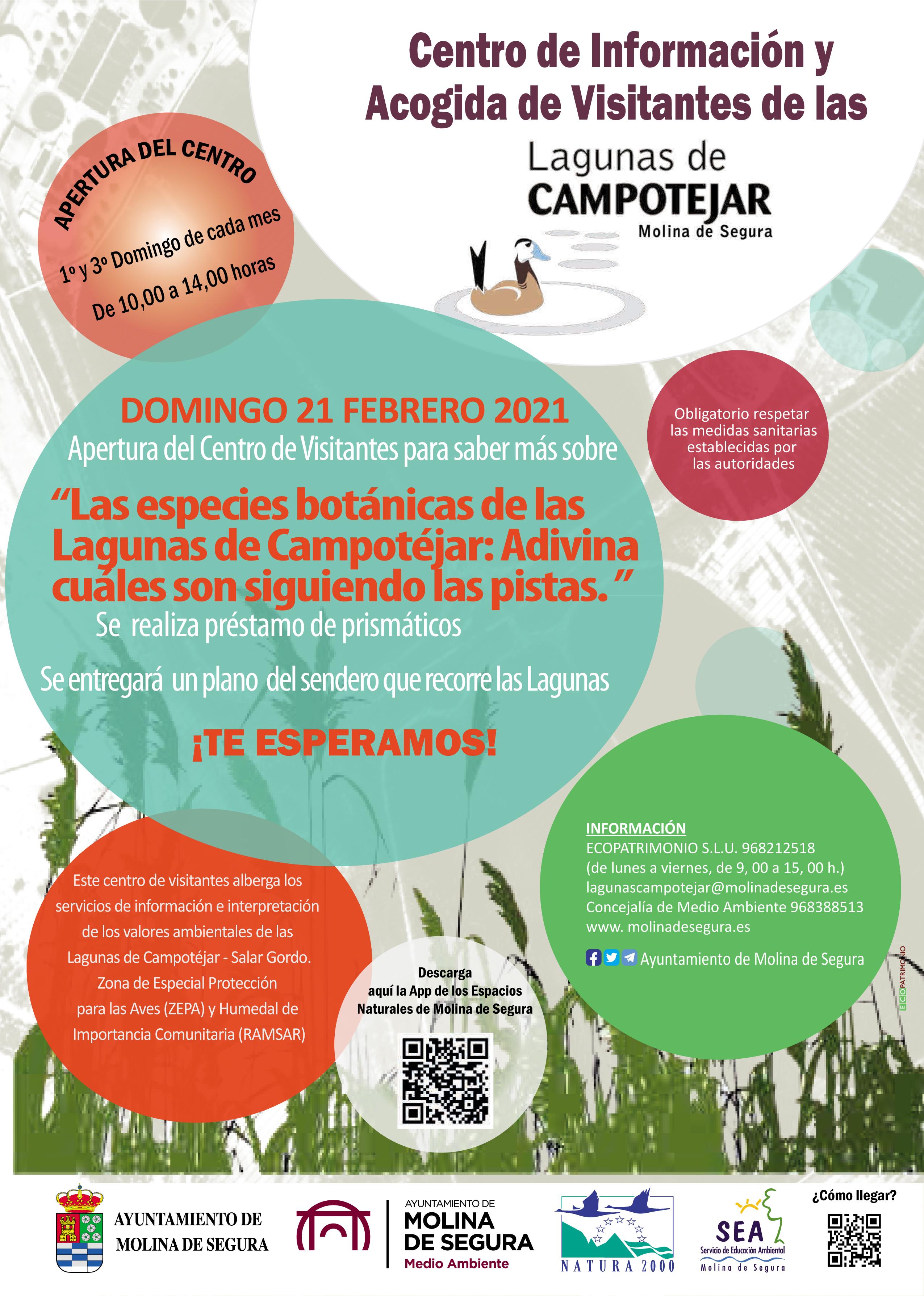 Ruta botánica por las Lagunas de Campotéjar, con el Ayto. de Molina de Segura