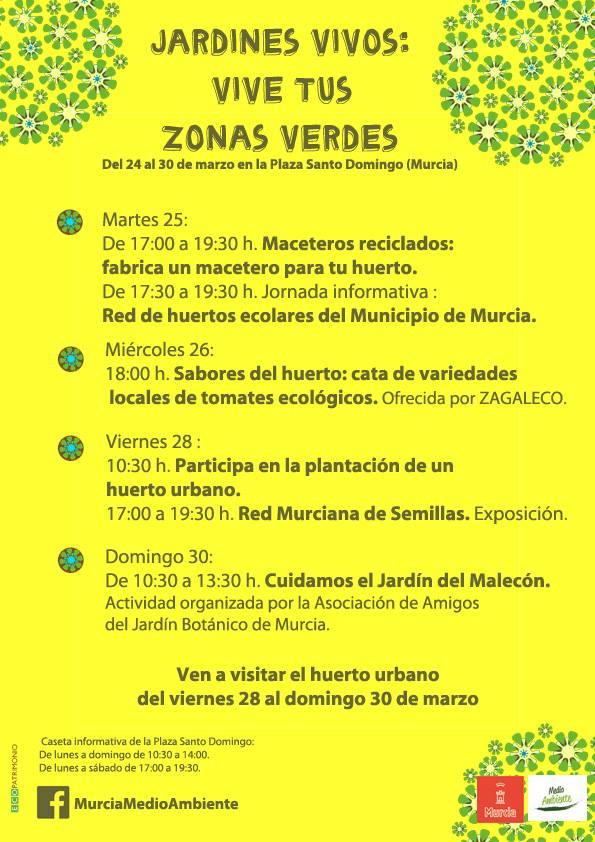 Cartel de actividades del Ayto. de Murcia