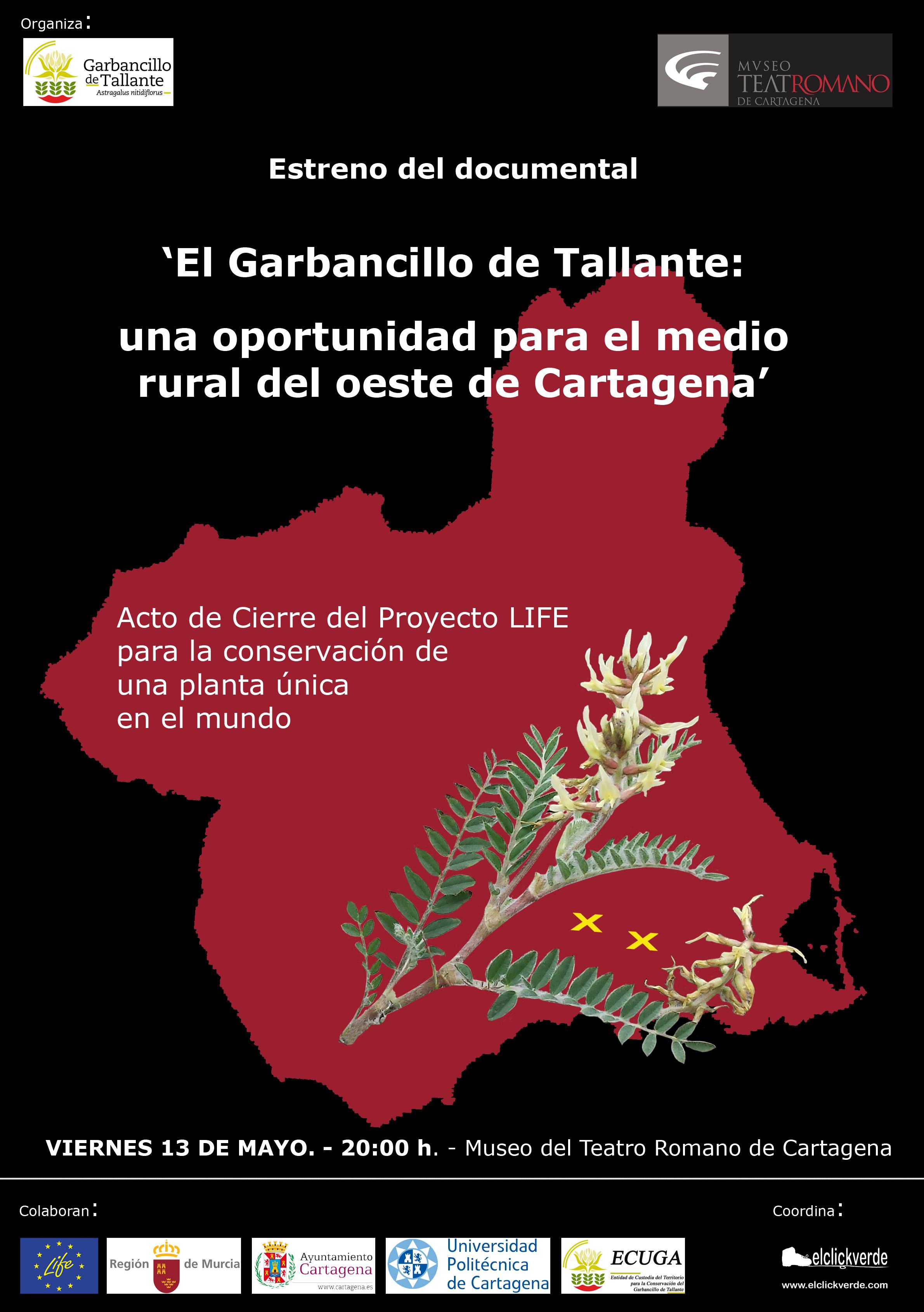 Estreno del documental 'El Garbancillo de Tallante: una oportunidad para el medio rural del oeste de Cartagena'.
