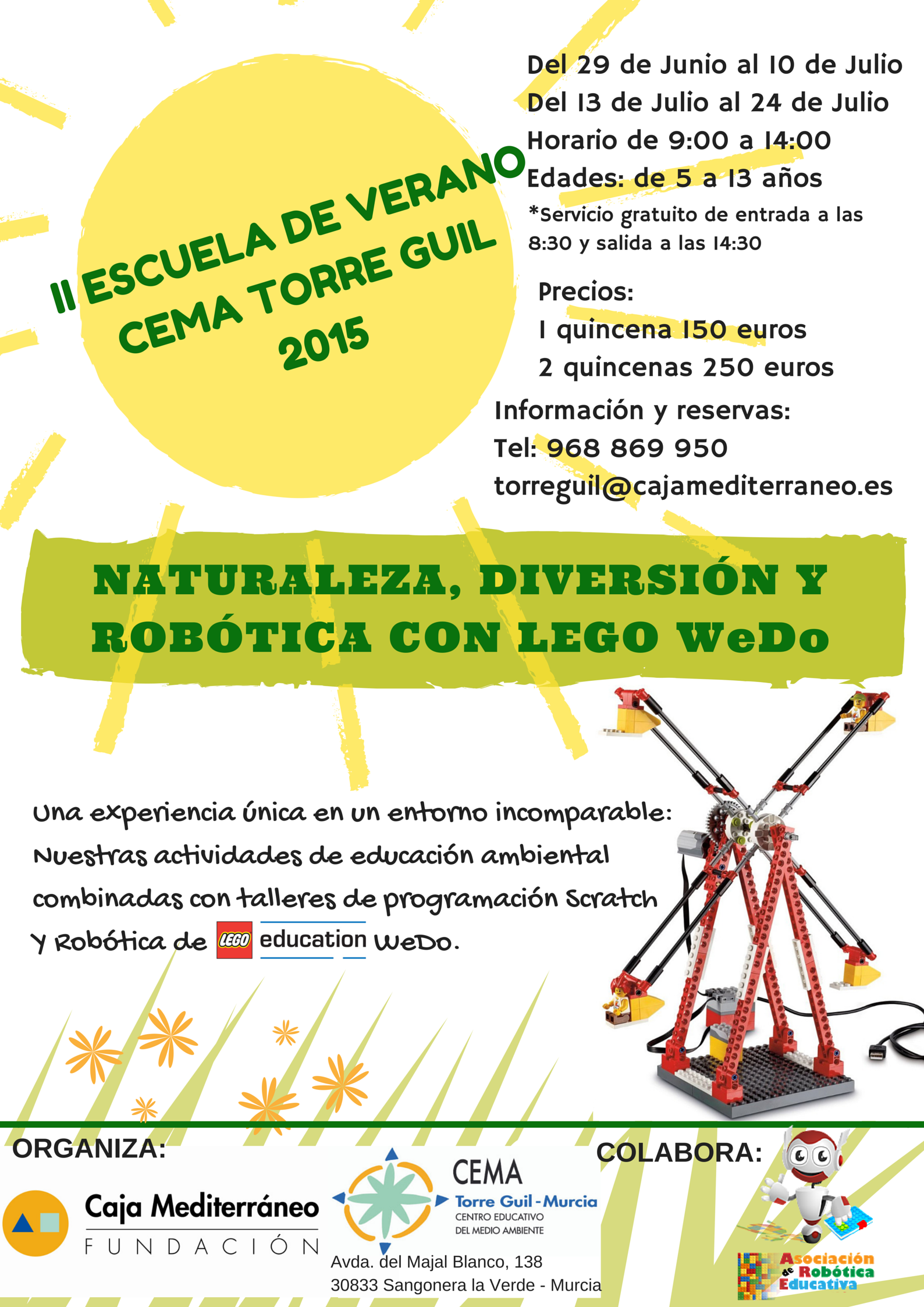 Escuela de Verano de naturaleza y robótica en el CEMA Torre Guil