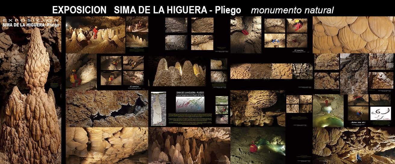Cartel de la exposición sobre la Sima de La Higuera en Pliego