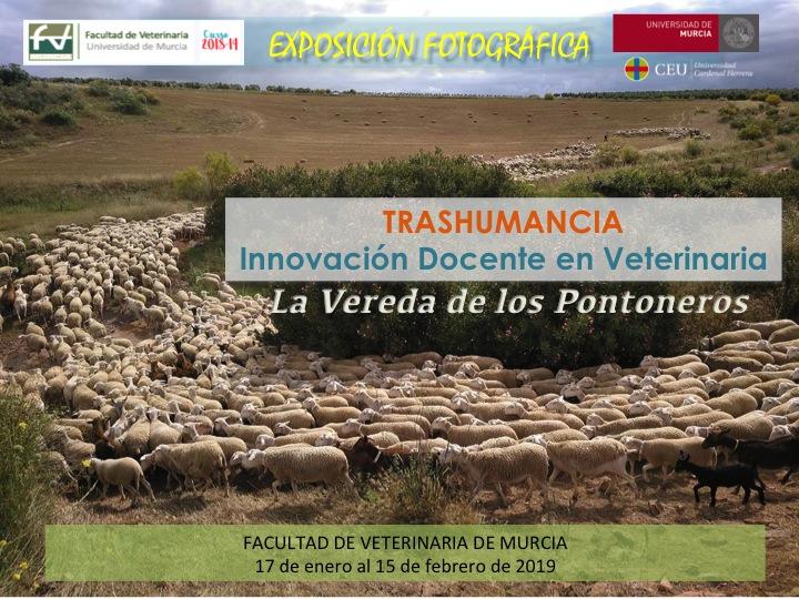 Cartel de la expo de fotos 'La Vereda de los Pontoneros', con la UMU