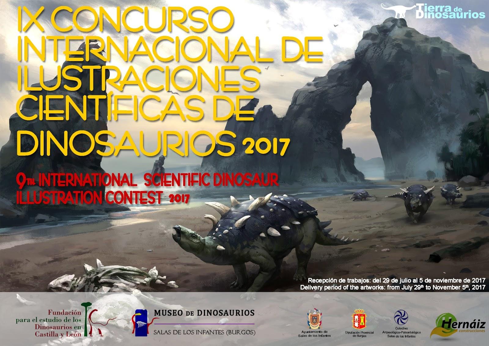 Concurso de ilustración de dinosaurios, con Fundación para el Estudio de los Dinosaurios en Castilla y León y el Museo de Dinosaurios de Salas de los Infantes