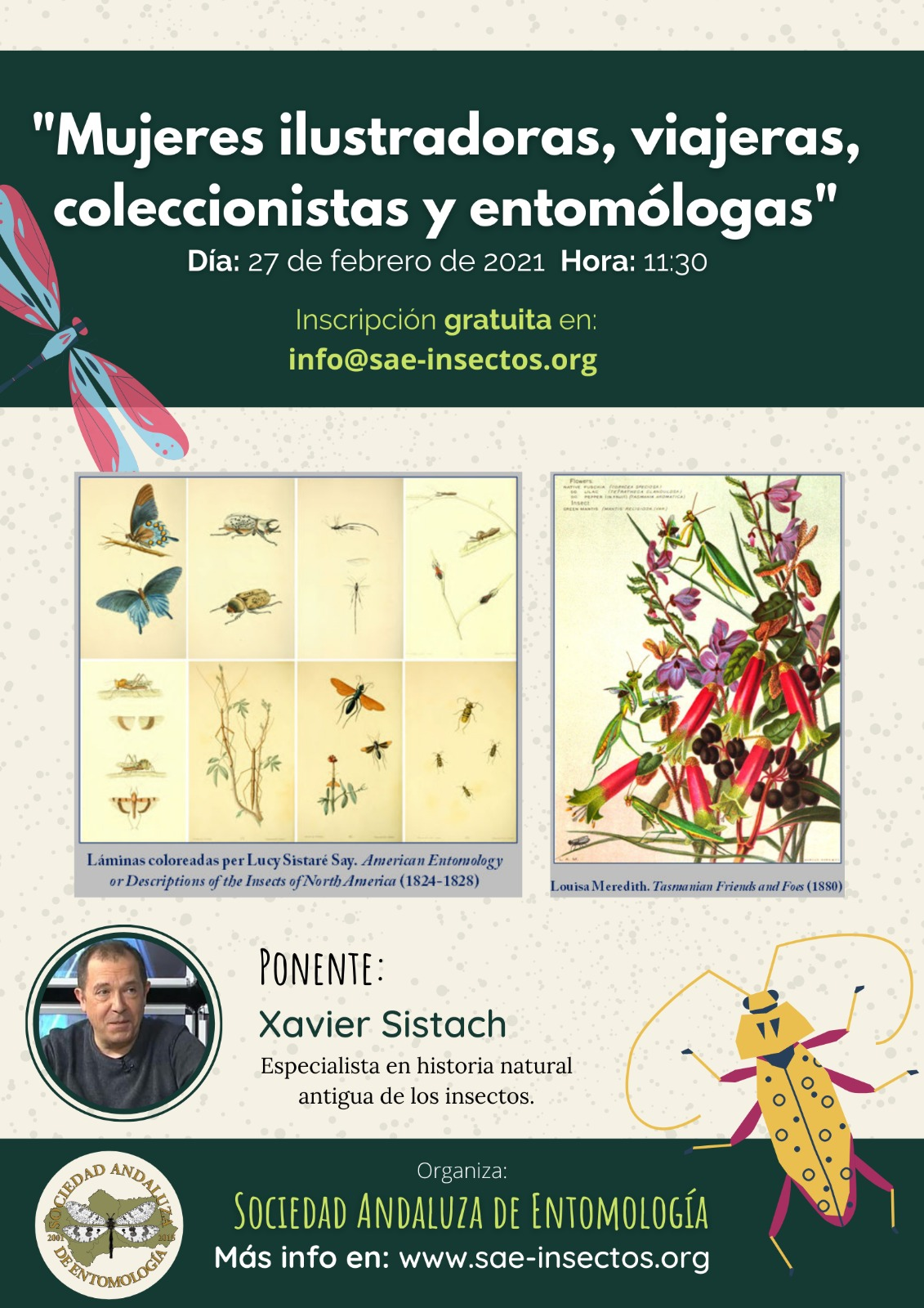'Mujeres ilustradoras, viajeras, coleccionistas y entomólogas', con SAE