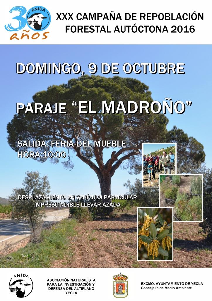 XXX Campaña de Repoblación Forestal con especies autóctonas, con ANIDA Yecla.
