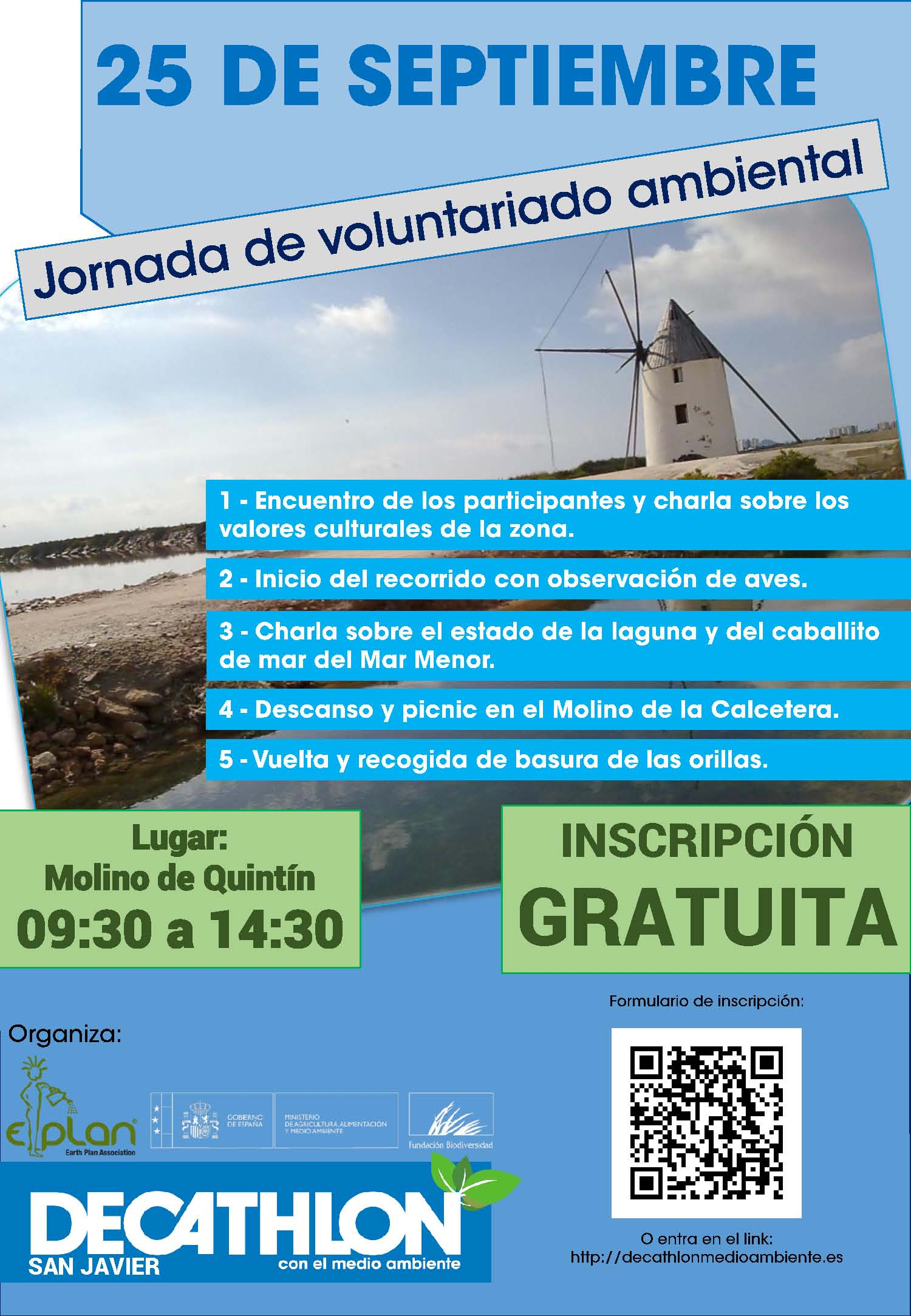 Observación de aves y limpieza del camino Quintín, con la Fundación Biodiversidad y Decathlon