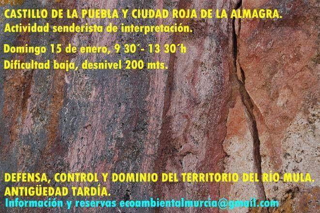 Visita al Castillo de La Puebla y Ciudad Roja de La Almagra, con Ecoambiental Murcia