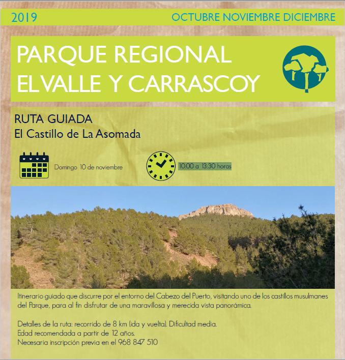 Ruta al Castillo de La Asomada, con la CARM