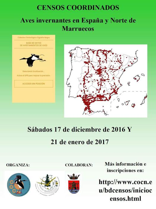 Censo de Aves Invernantes, con COCN