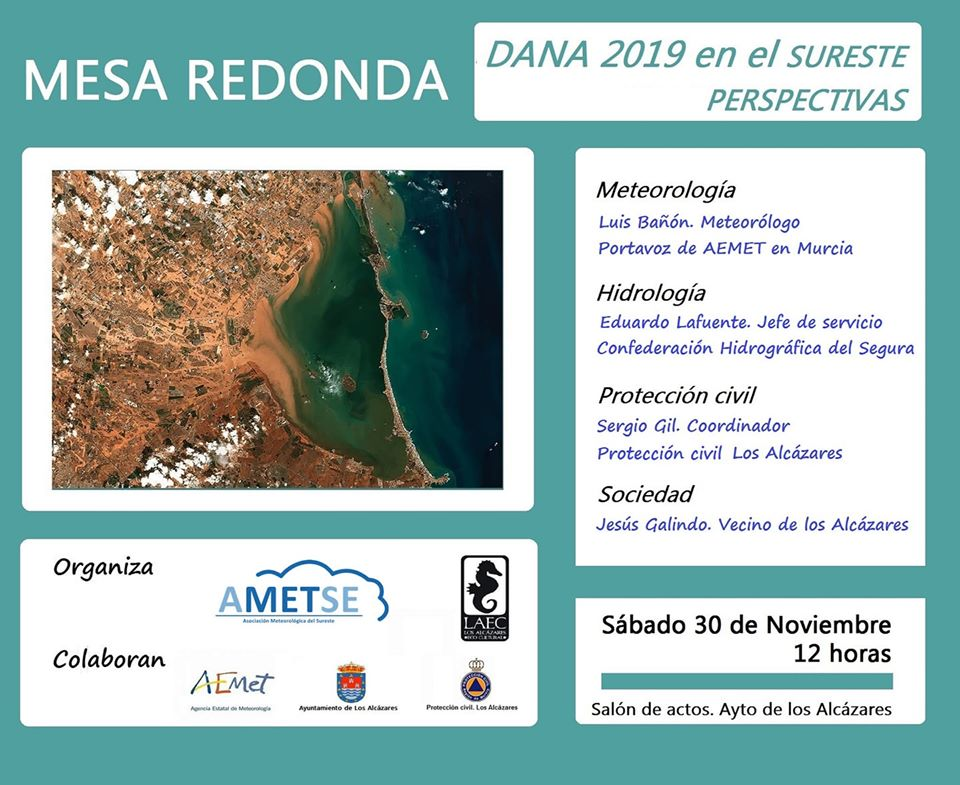 Mesa Redonda 'Dana 2019 en el sureste. Perspectivas', con Ametse y LAEC