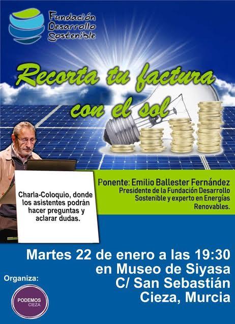 Charla sobre la energía solar y electricidad, con la Fundación Desarrollo Sostenible