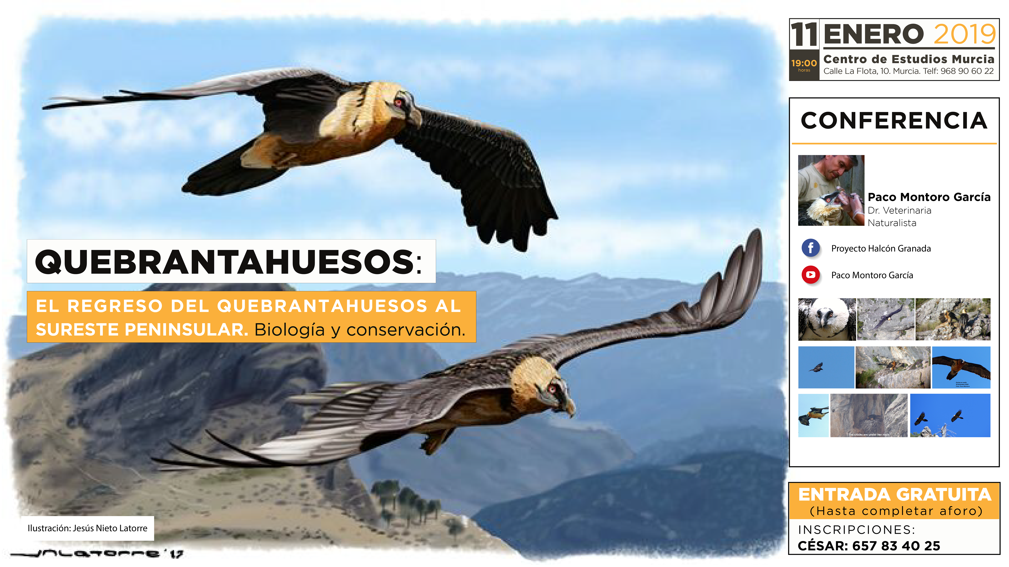 Conferencia sobre el quebrantahuesos, con el Centro de Estudios Murcia