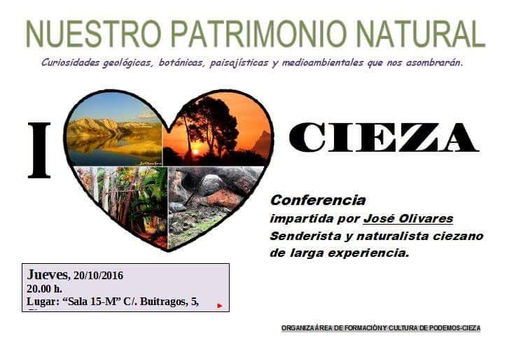 Conferencia sobre el patrimonio natural de Cieza