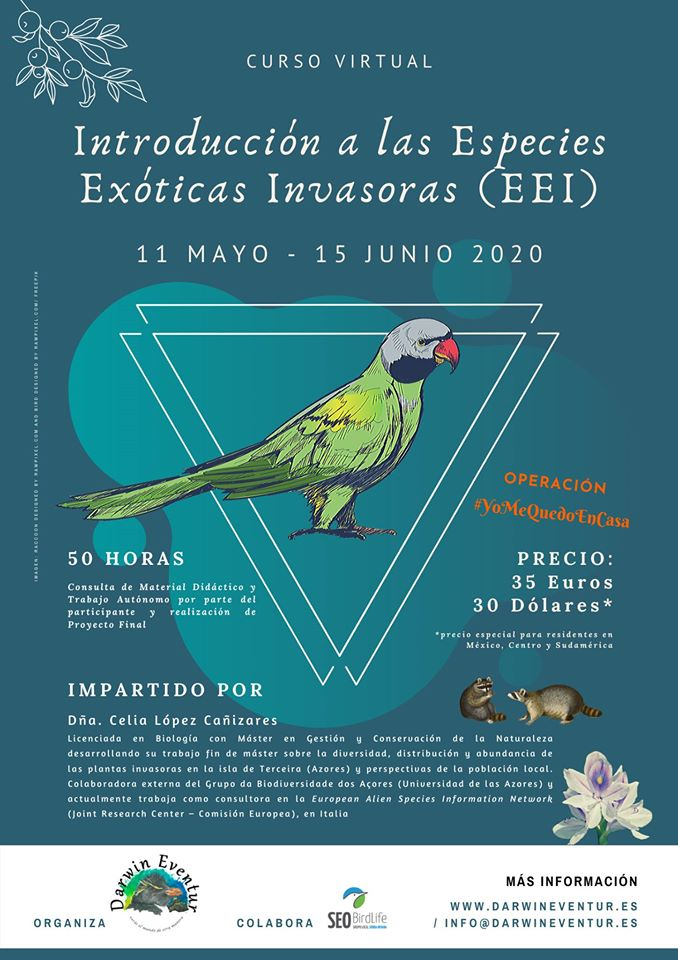 Curso on line sobre especies invasoras, con Darwin Eventur
