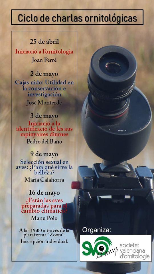Ciclo de Charlas Ornitológicas de la Sociedad Valenciana de Ornitología