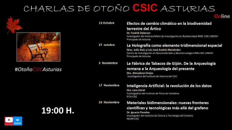 Programa de charlas de otoño del CSIC Asturias