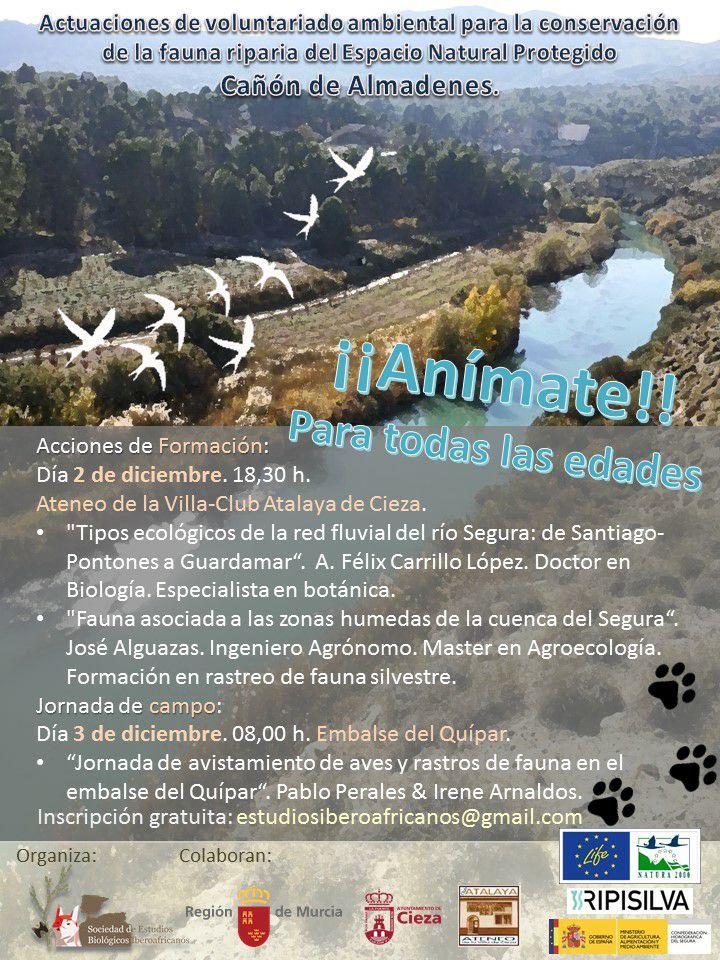 Charlas sobre la ecología del río Segura, con SEBI