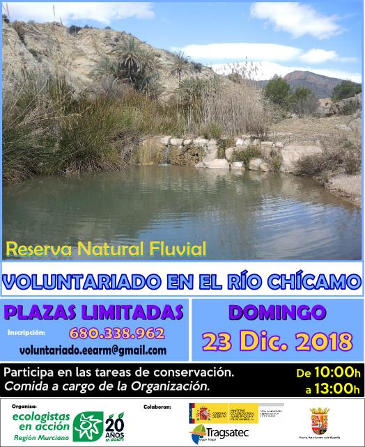 Voluntariado en el río Chícamo, con EEA Región Murciana