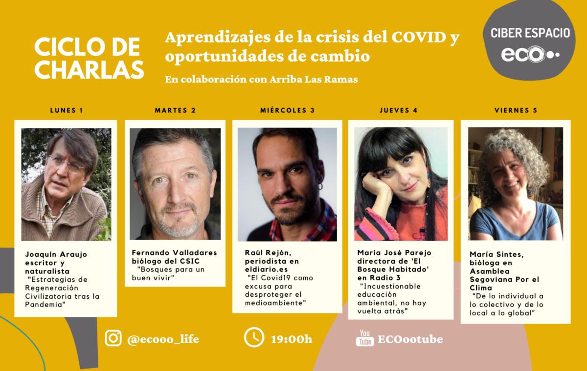 Programa del ciclo 'Aprendizajes de la crisis del Covid y oportunidades de cambio', de Ecooo