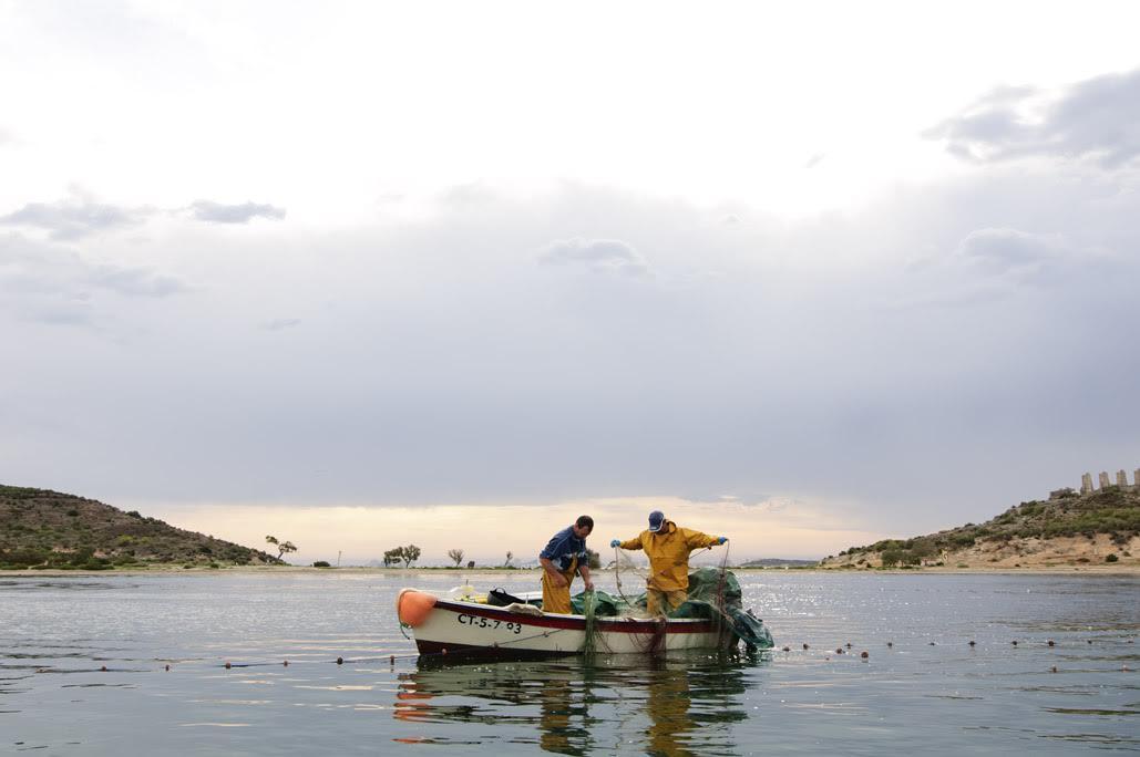 Pesca tradicional en el Mar Menor. Imagen: Columbares
