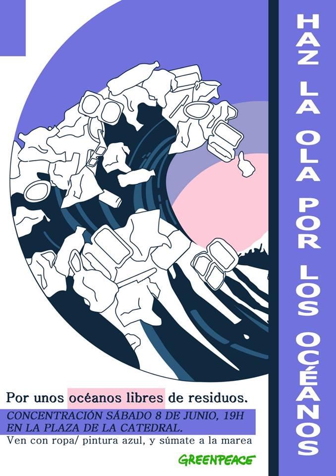 Concentración 'Día de los Océanos', con GreenPeace