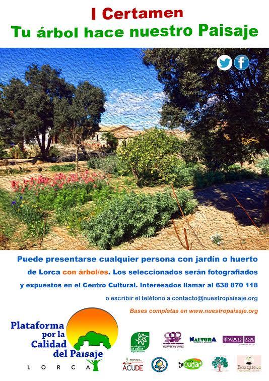 Cartel del I Certamen 'Tu árbol hace nuestro paisaje', en Lorca