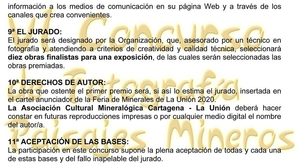 Bases del VI Concurso de fotografía Paisaje Minero de la Sierra Cartagena-La Unión 2, con FAEPU