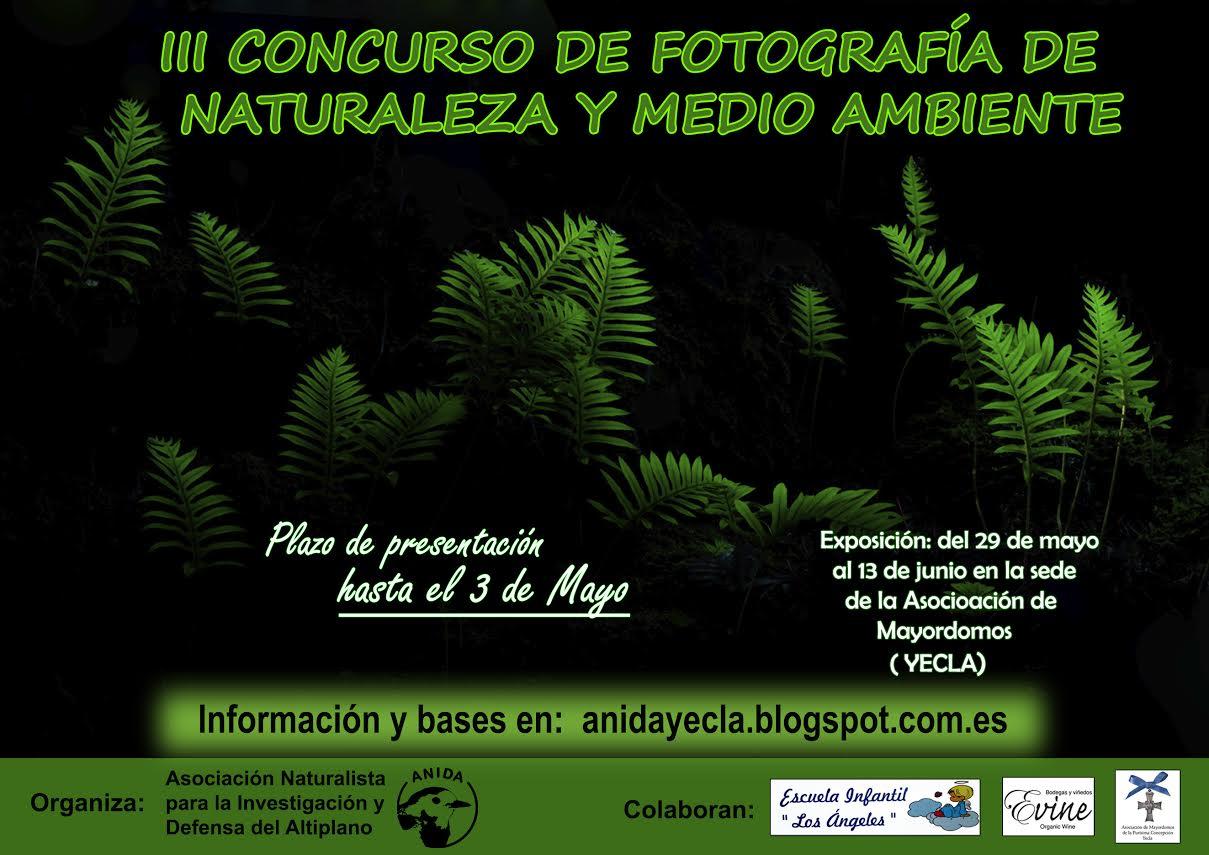 Concurso fotográfico de naturaleza y medio ambiente, con ANIDA