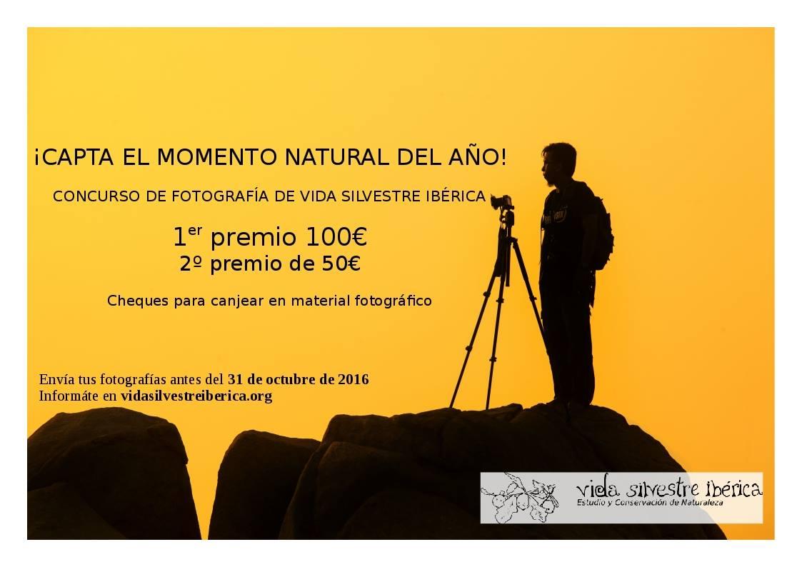 Concurso de fotografía de naturaleza, con Vida Silvestre Ibérica.