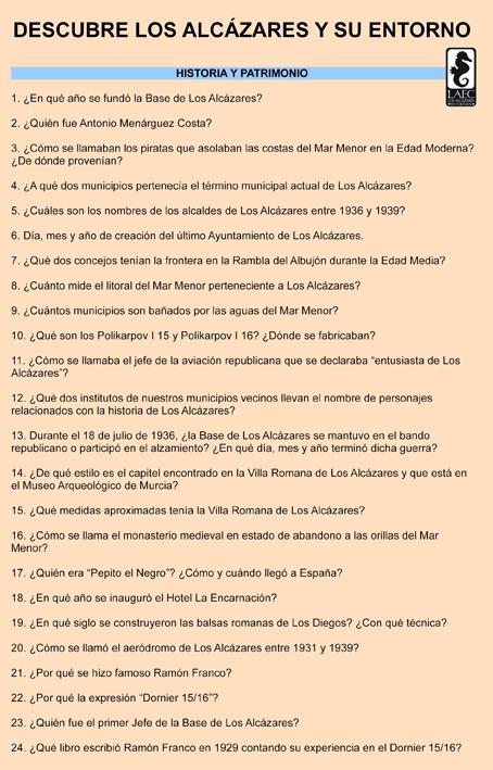 Preguntas del Concurso, pág. 1